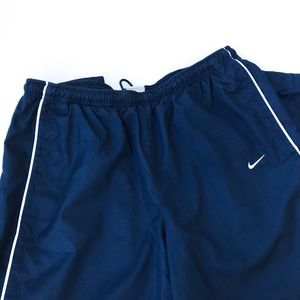 Nike Windbreaker Lined Navy Track Athletic Pants L